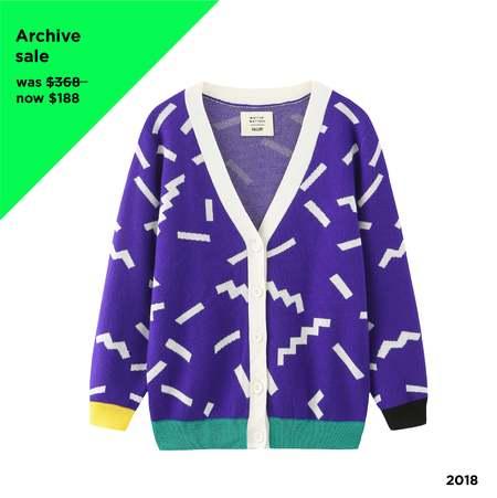 Unisex MATTER MATTERS  V Neck Merino Wool Cardigan - Purple