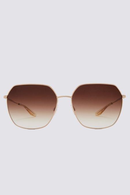 Unisex Barton Perreira Metal Sotera Sunglasses - Gold/Smokey Topaz