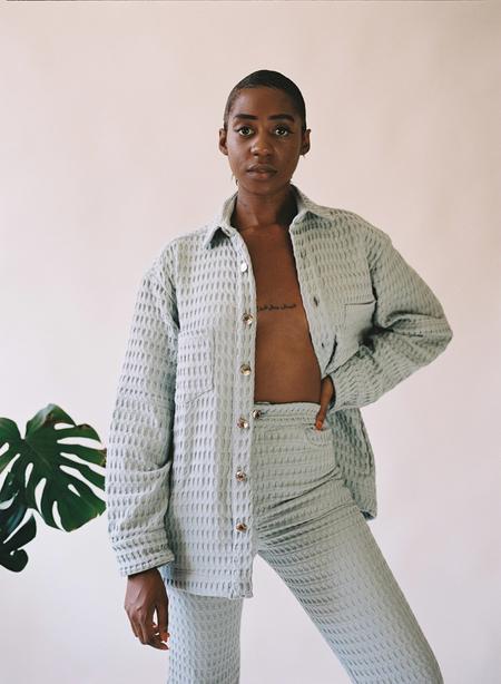 UNISEX Aniela Parys Julian Waffle jacket - Green