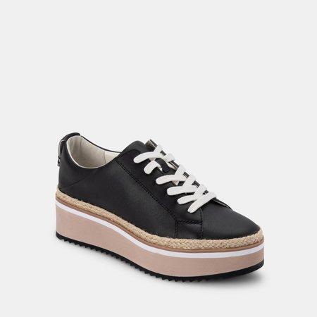 Dolce Vita Tinley Laceup Platform Loafer - Black/White