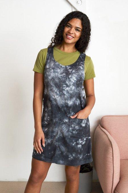 North Of West Caroline Jumper Dress - Black Tie Dye