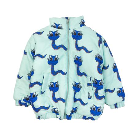 KIDS Banana Valentine Snakes Midi Coat - BLUE