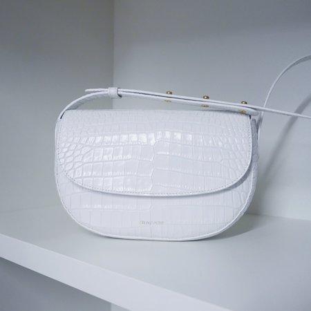 Frenzlauer Swing Bag in Croc Effect - White