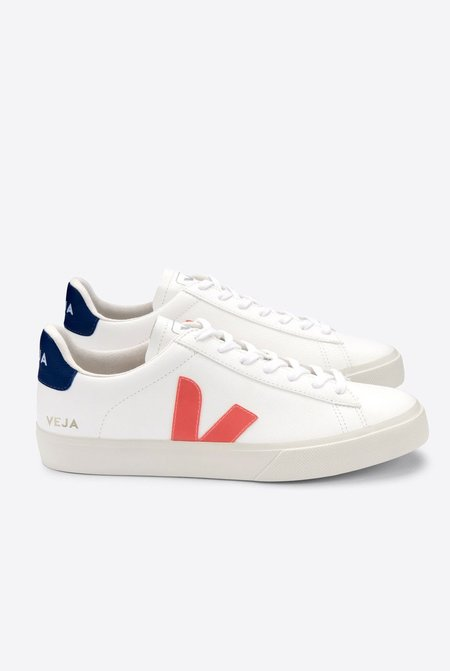 VEJA Campo Chromefree sneakers - White/Orange-Fluo/Cobalt