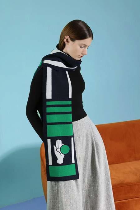MATTER MATTERS CHANCE Knit Scarf - FOREST