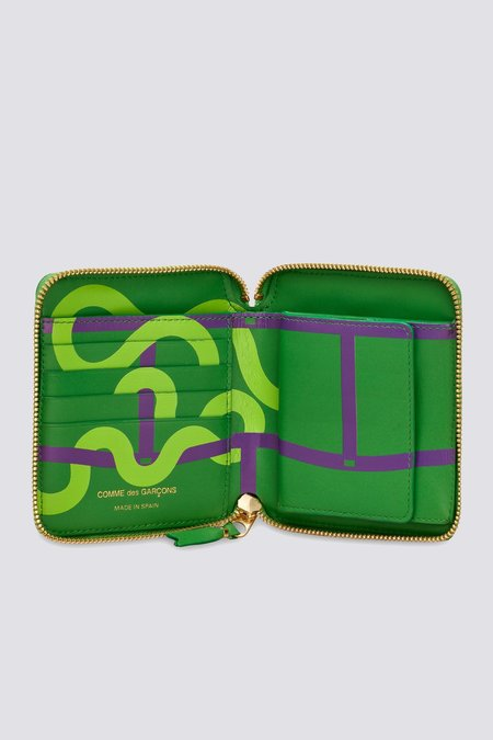 Comme des Garçons SA2100RE Leather Ruby Eyes Wallet - Green