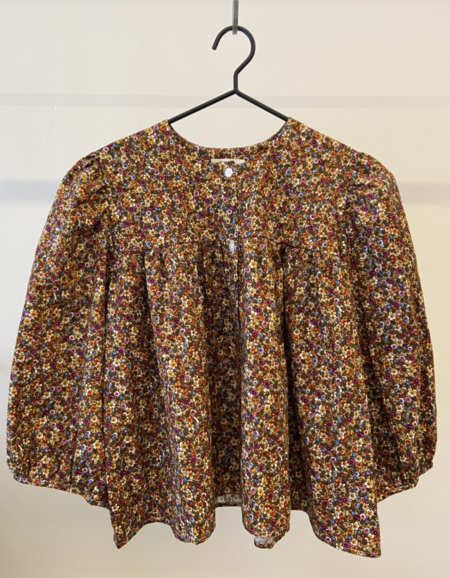 Bronze Age Posey Blouse Corduroy - Moss/Gold