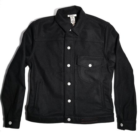KATO The Blade G Heavy Melton Wool Jacket - Black