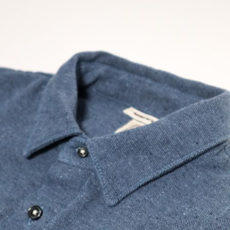KATO The Ripper Recycled Denim Shirt - Dark Blue