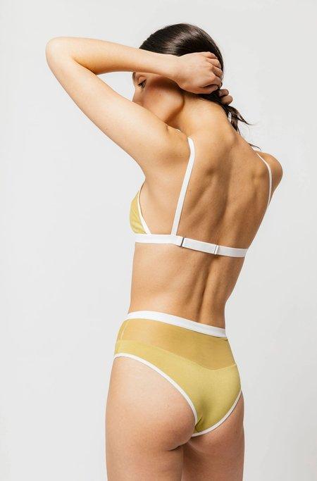Logan High Cut Bikini in Matcha Sample