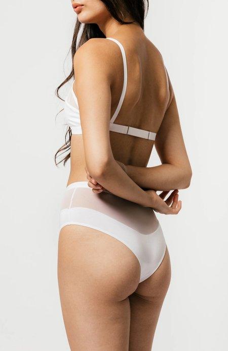 Logan High Cut Bikini in White