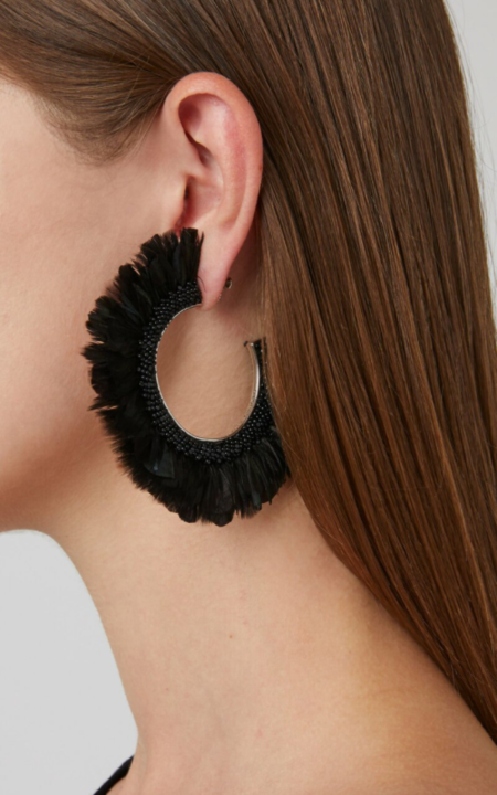 Mignonne Gavigan Feather Fiona Hoops