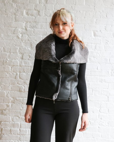 [Pre-loved] Muubaa Fur Leather Vest