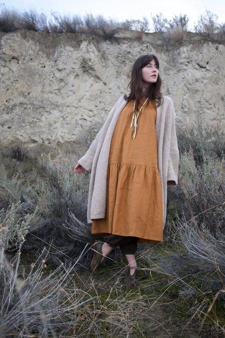Beaton Linen June Dress - Rust