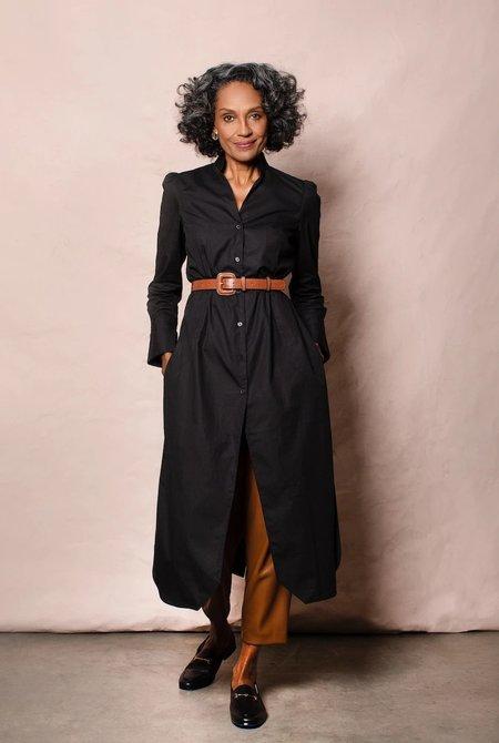 GRAMMAR NYC The Dangling Modifier shirt dress - Black