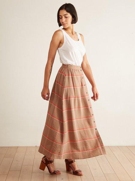 Sita Murt Long Checked Skirt - brown