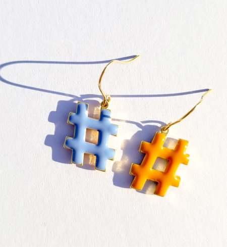 MATTER MATTERS Hashtag Pastel Earrings