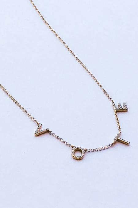 Pade Vavra Vote Necklace - 14K Yellow Gold/Diamond