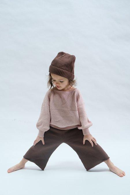 Kids Raised By Water Wide Leg Knit Pants - Chocolate