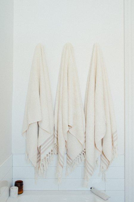 Weft End Ecru Bath Towel