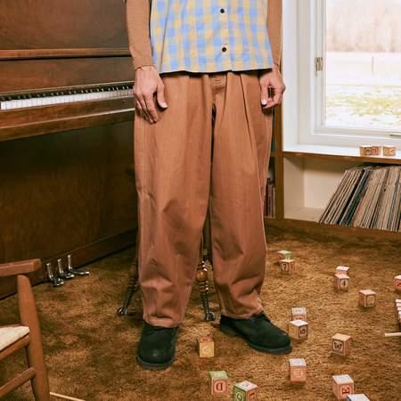 Unisex Story Mfg Lush Organic Selvedge Denim Jeans - Bark Brown