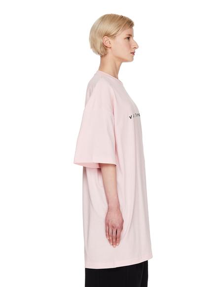 Vetements Oversize Logo T-Shirt - Pink
