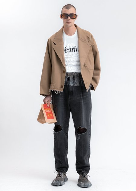 Doublet Silk Chino Cut Off Jacket - Beige