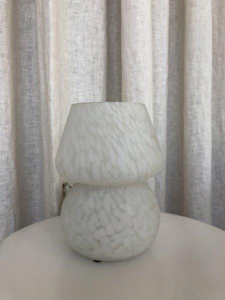 VINTAGE Ri-Ri-Ku FROSTED MUSHROOM LAMP - WHITE