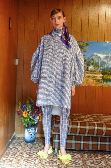 Henrik Vibskov Moment Shirtdress - BLUE RUFFLES