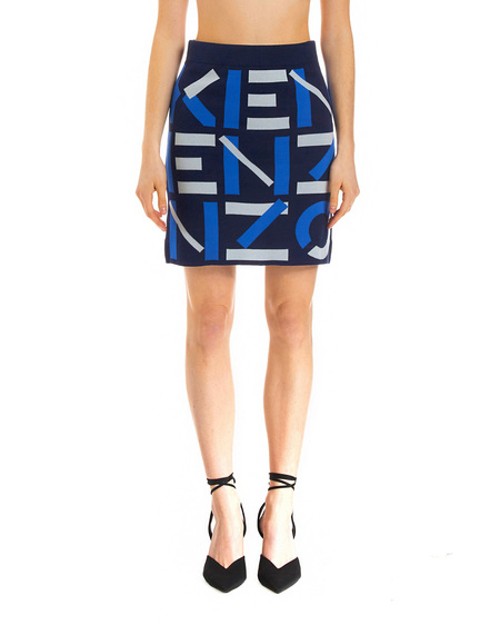 Kenzo Skirt with Logo - Multicolor