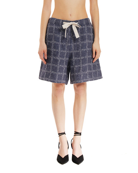 JW Anderson Checked Shorts - Blue Navy