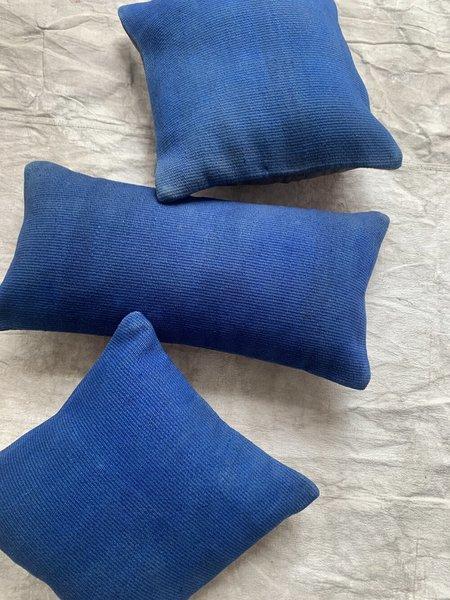 Cuttalossa & Co. Wool Kilim Pillows - Cobalt Blue