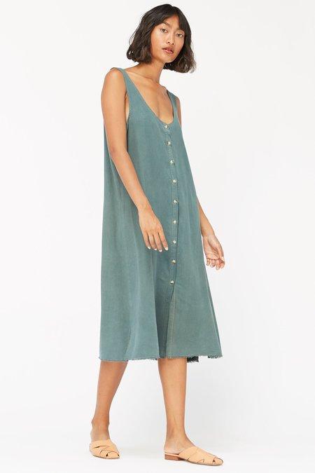 Lacausa Reversible Silk Dress - Seaweed