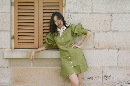 Wellington Factory Martina Mini Dress -  Olive