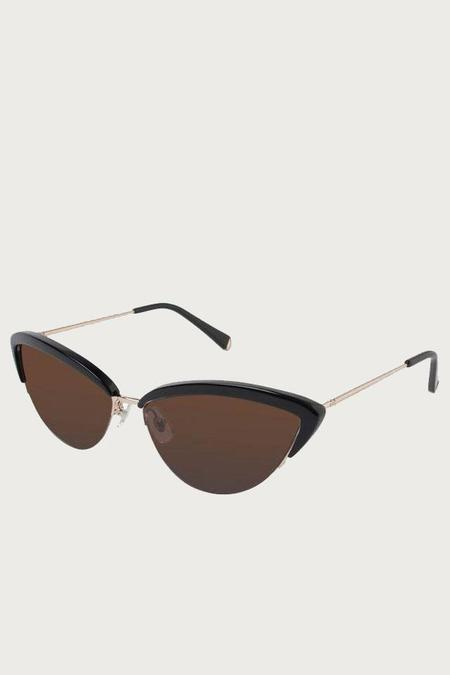 Kate Young for Tura Ally Sunglasses - Black