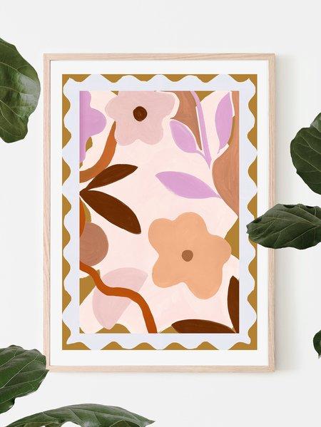 Mosey Me Flower Stamp Art Print