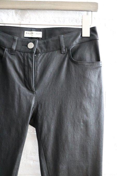 [Pre-loved] Balenciaga Leather Skinny Pants,
