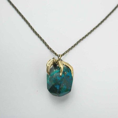 By Natalie Frigo Claw Necklace - Chrysocolla