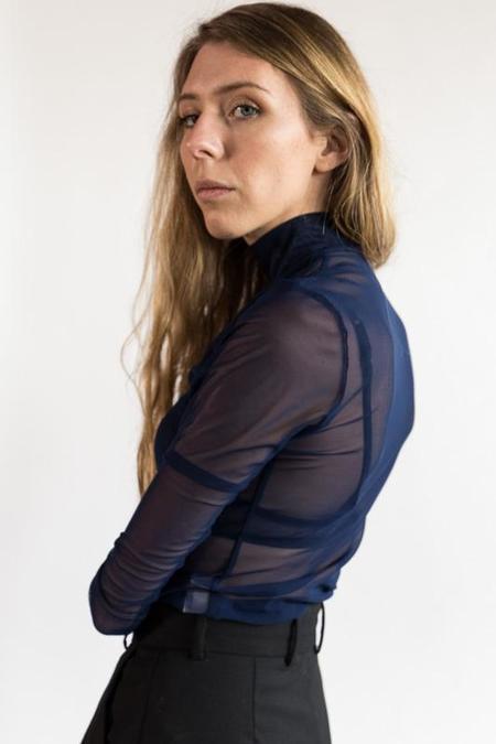 Nomia Mesh Mockneck - Dark Blue