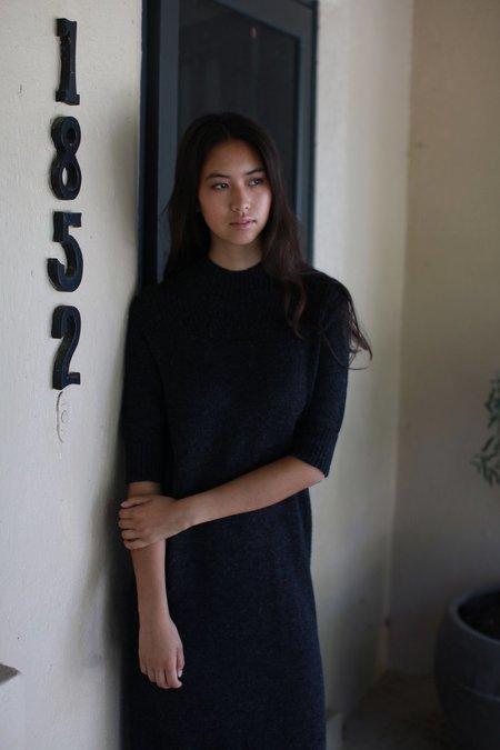 Wol Hide Wool Dress - Charcoal