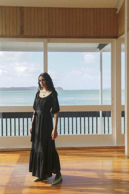 OVNA OVICH Honour Dress - Midnight Black Tencel