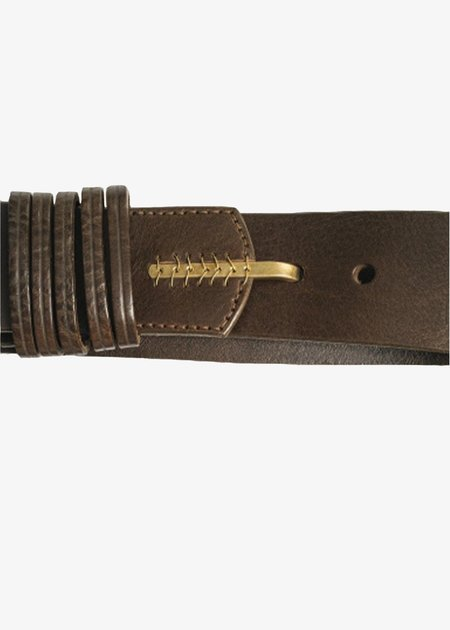 Johnny Farah Loop Hook Belt - brown