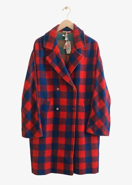 Pero AR01 Coat - red/blue