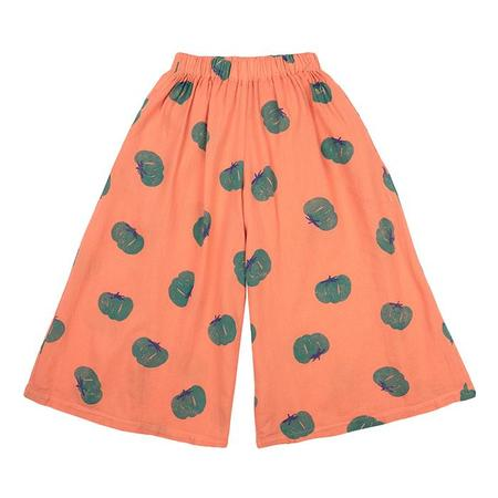 Kids Bobo Choses Culotte Pants With All Over Tomato Print - Orange