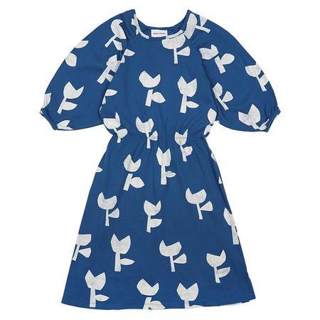 Kids Bobo Choses Dress With All Over Poppy Print - Blue
