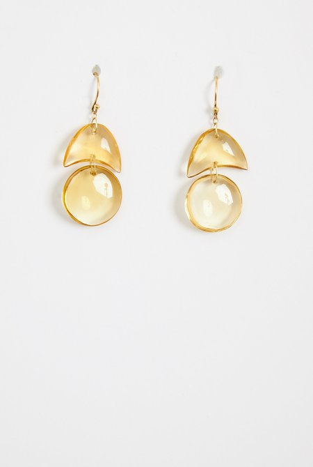 TEN THOUSAND THINGS Citrine Tiny Arps Earrings - 18k Gold