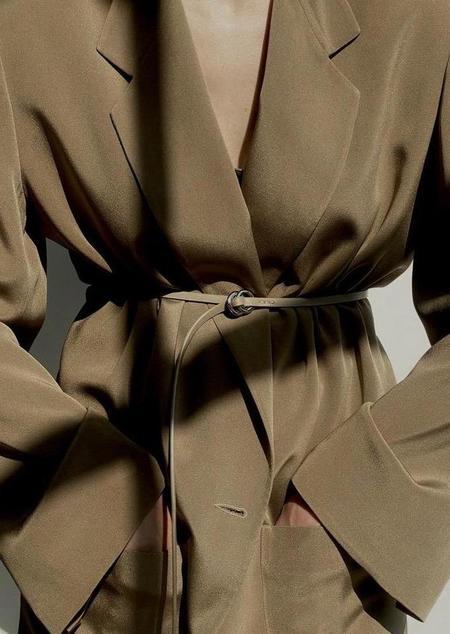 Modern Weaving Contour O-Ring Belt - Black