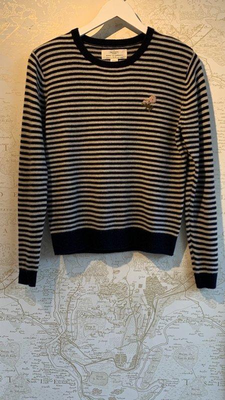 Trovata Ryann Sweater - Navy Stripe