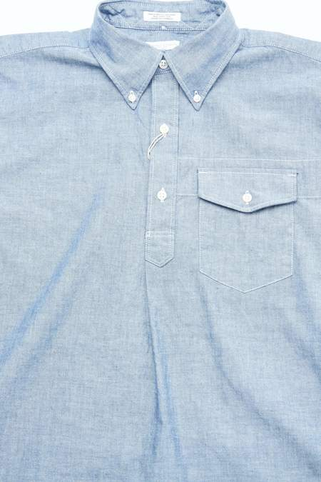 Engineered Garments Cotton Popover BD Shirt - Blue Chambray