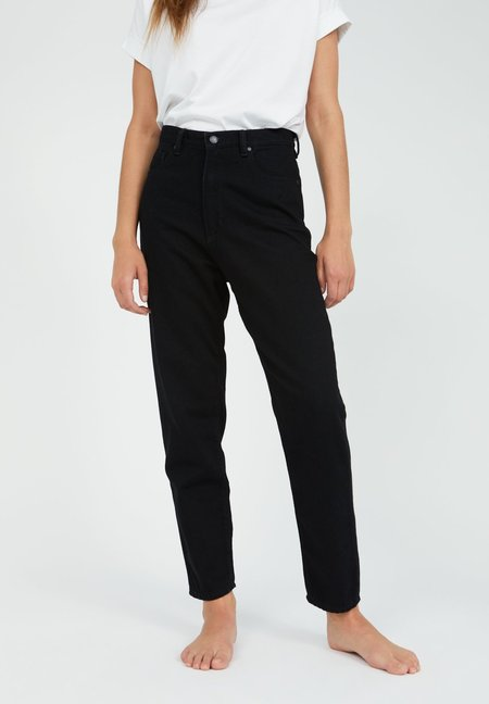 Armedangels Mom Fit High Waist Organic Cotton Denim Jeans - Black
